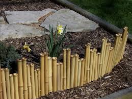 bamboo garden border fence