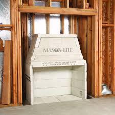 43 pre cast masonry see through firebox kit with 16 flue woodlanddirect com indoor fireplaces wood mason lite