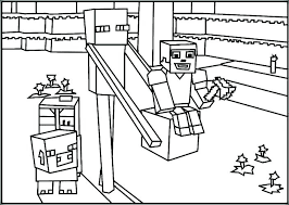 Minecraft Coloring Pages Zombie Pigman Coloring Pages Zombie
