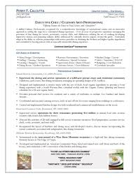 executive chef resume ilivearticlesinfo sample resume for chef