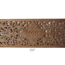 relief carved wooden wall art panel