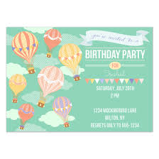 Balloon Birthday Invitations Hot Air Balloon Birthday Invitations Cards On Pingg Com