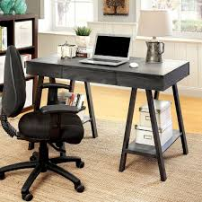 office desk with shelves. Get Quotations · 1PerfectChoice Surrey Home Office Computer Writing Desk Wood Bottom Shelves Angled Leg Grey With L