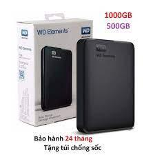 Ổ cứng di động 500GB Western WD Elements tặng túi chống sốc bh 24 tháng 1  đổi 1 giá cạnh tranh