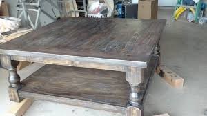 ana white pretty massive coffee table diy projects four drawer square weathered pine design excellent size