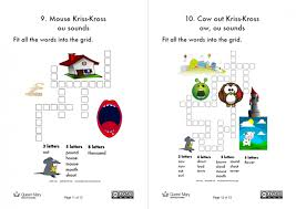 Printable worksheets for teaching students to read and write basic words that begin with the letters br, cr, dr, fr, gr, pr, and tr. Phonics Kriss Kross Puzzles Worksheets For Year 1 Computing Teachwire Teaching Resource