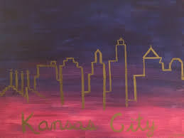we created these beautiful kansas city skylines this was a hard one but everyone vered and they look great nice job las
