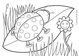 Spring Coloring Pictures Printable Y3209 Spring Color Sheets