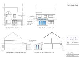 architecture house drawing. Newcastle House Extension Drawings For Planning Permission Architecture Drawing