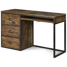 braxton wood student desk in distressed natural by magnussen home weathered computer