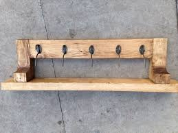 Handmade Coat Rack Handcrafted Handmade Coat Hook Wall Mounted Rack With Shelf Of See 18