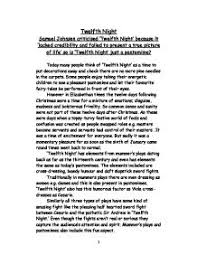samuel johnson criticised twelfth night because it lacked   william shakespeare · twelfth night page 1 zoom in