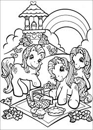 Kids N Fun Kleurplaat My Little Pony My Little Pony Picknicken
