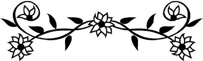 Border Black And White Flower Black And White Black And White Flower Border Clip Art