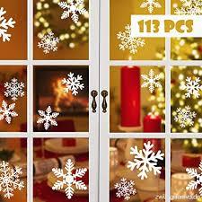 Blooven Schneeflocken Fensterbild Für Winter Und Weihnachten