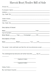 Standard Bill Of Sale For Boat Boat Rchase Agreement Template Camper Bill Of Sale Travel