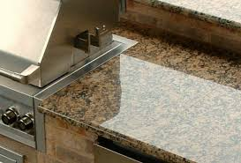 outdoor kitchen countertops gold granite