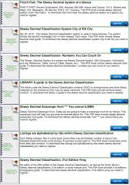 Dewey Decimal System Chart For Kids Pdf Free Download
