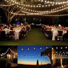 romantic outdoor light strings decorating romantic wedding lighting image of sweet light full size
