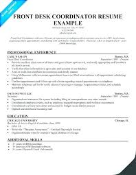 English Resume Template Enchanting Front Desk Manager Resume Template Medical Hospital Sample R Yomm
