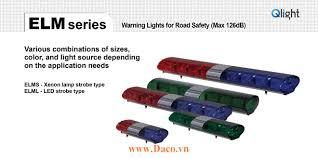 ELML-3-12-BR Đèn hộp lightbar xe ưu tiên Qlight 1148mm Bóng LED 126dB  Speaker