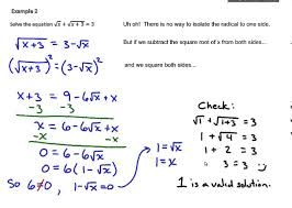 common core algebra 2 module 1 lesson 29 solving radical equations part 2
