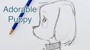 Small Picture How to Draw a Super Cute Puppy Step by Step YouTube