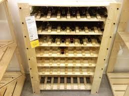 Rack, Woodworking Chicago Bolts Ikea Wine Rack Shelf Ideas: Great Ikea