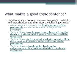 duane theobald topic sentences duane theobald ppt what makes a good topic sentence