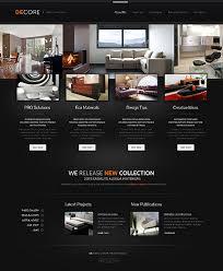 Website Templates Interior And Furniture Decore Furniture Profile Unique Furniture Website Design