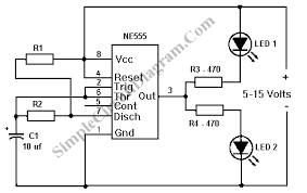 volt powered circuit diagram schematic circuit diagram diagram wiring diagram on possibly related to led flasher circuit using 555 ic circuits