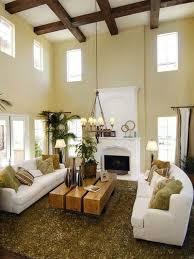 clerestory windows exposed beams low hanging chandelier