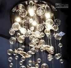 2017 modern fashion deep sea fish glass bubble led ceiling light regarding brilliant house glass bubble light chandelier designs