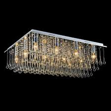 15 7 wide rectangular crystal rain flush mount shine with bright crystal beads and water drops