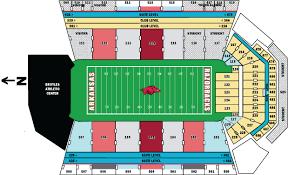Razorback Football Stadium Seating Chart Razorback Football Stadium Seating Chart Wajihome Co