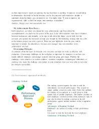 Employee Appraisal Samples Self Appraisal Example Employee