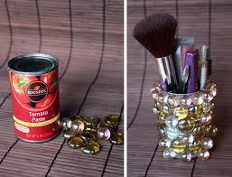 Top Diy Repurposed Tin Can Makeup Container Toger With This Is A Quick  Project That in