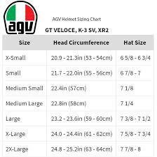 Agv Helmet Size Chart Australia