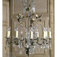 stunning italian brass crystal hand painted porcelain chandelier