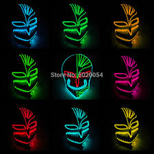 Light Up Mask Us 15 35 6 Off Cheap Price Led Bleach Cosplay Mask Novelty Glowing Party Rave El Mask Light Up Mask For Halloween Dance Dj Club In Boys Costume