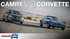 66 Corvette vs Toyota Camry | Classic American Sports Car Against ...