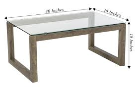 oak coffee table with glass top mango steam dakota coffee table blonde oak clear