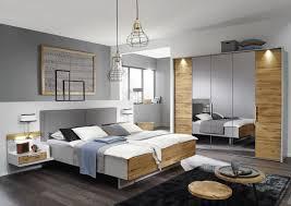 Schlafzimmer Komplett Mit 5 Türigen Kleiderschrank In Grau Und