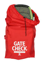 Red Checking Gate Check Bag Standard Dual Strollers