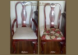 Fabric To Reupholster Dining Room Chairs Enjoy Life Anyway Diy Recover Your Dining Room Chairs For Under