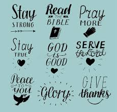 Christian Photos And Quotes Best of Set Of 24 Hand Lettering Christian Quotes Stay Strong Peace To You