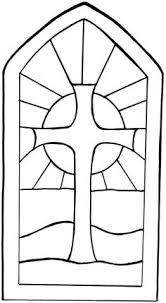 stained glass cross coloring page.  Glass Stained Glass Window Template For Cross Coloring Page U