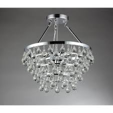 warehouse of tiffany eleanor 5 light chrome crystal chandelier