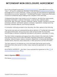 Free Intern Confidentiality Agreement Template Nda Pdf Word