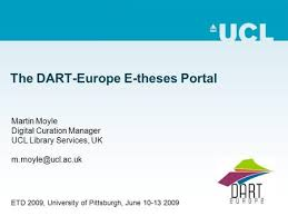 the diva system current status and ongoing development uwe klosa  the dart europe e theses portal martin moyle digital curation manager ucl library services
